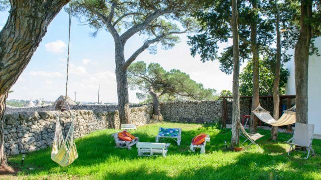 Giardino b&b masseria Puglia